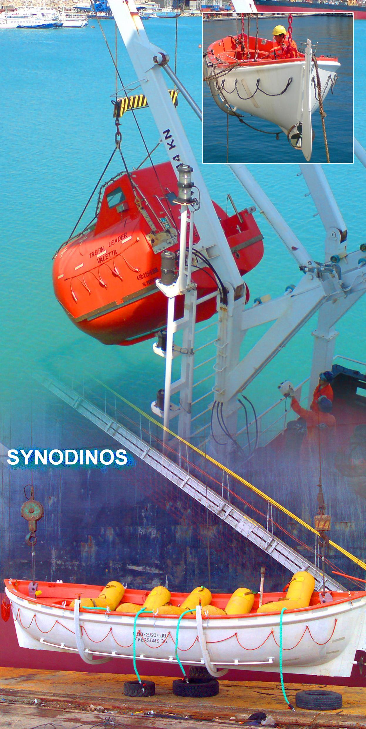 Lifeboat Dynamic Testing K Amp A Synodinos Sa Wire Rope